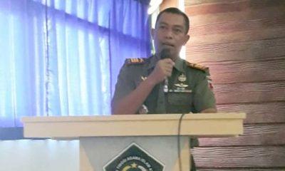 Kapten Inf.Muhammad Safri Wakili Dandim 0822 Bondowoso di Talk Show Badan Eksekutif Mahasiswa se- Jawa timur (foto dul momentum Bondowoso)