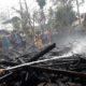 Akibat Konsleting listrik 1 unit rumah milik warga Desa Kupang Hangus terbakar ( foto.dul.Memontum, Bondowoso)