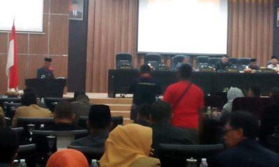 Sidang Paripurna DPRD.Kabupaten Bondowoso,Fraksi PKB.Sesalkan OPD Tak Inovatif. (Foto.Dul)