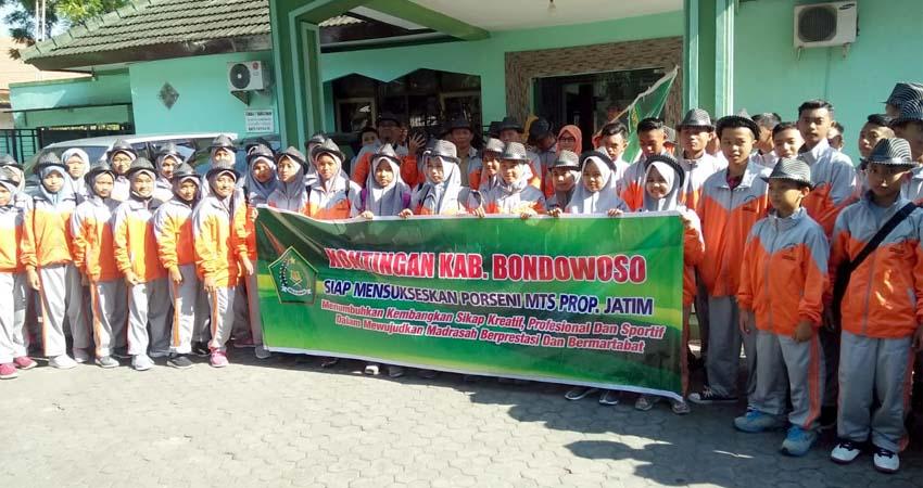 Kontingen Kabupaten Bondowoso siap berjaya di Porseni Madiun dan Ponorogo ( foto dul Memontum.com )