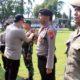 Kesiapan pasukan oleh Polres Bondowoso untuk pengamanan Pilkades Serentak tahun 2019 di Kabupaten Bondowoso