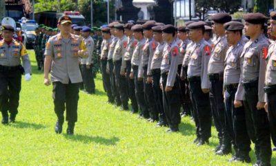Jelang Natal dan Tahun Baru 2020, Polres Bondowoso Gelar Pasukan dan Musnahkan Barang Bukti