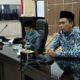 Ketua komisi IV Adi Krisna didampingi wakil ketua komisi IV H.Darsono saat gelar raker bersama (dul memontum)